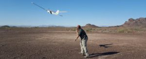 Unmanned ISR Training - launching a plane into the air to begin the training