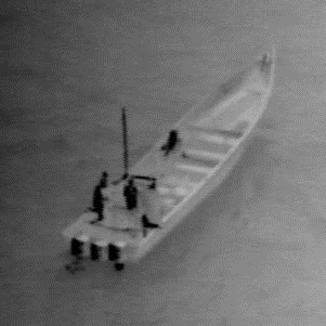 People on a boat during a maritime patrol
