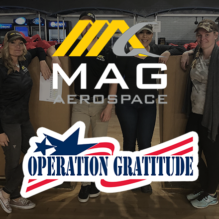 MAG Aerospace and Operation Gratitude logos