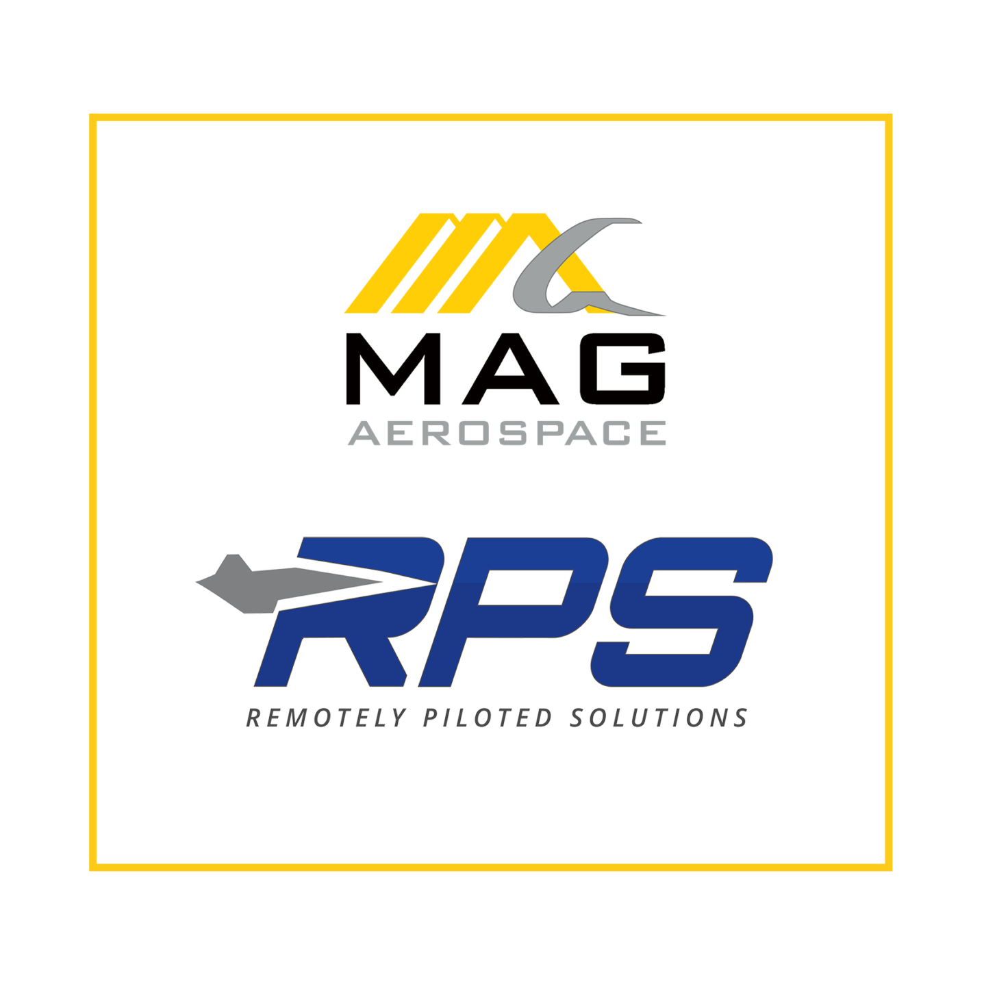 MAG Aerospace logo and Remotely Piloted Solutions RPS Logo